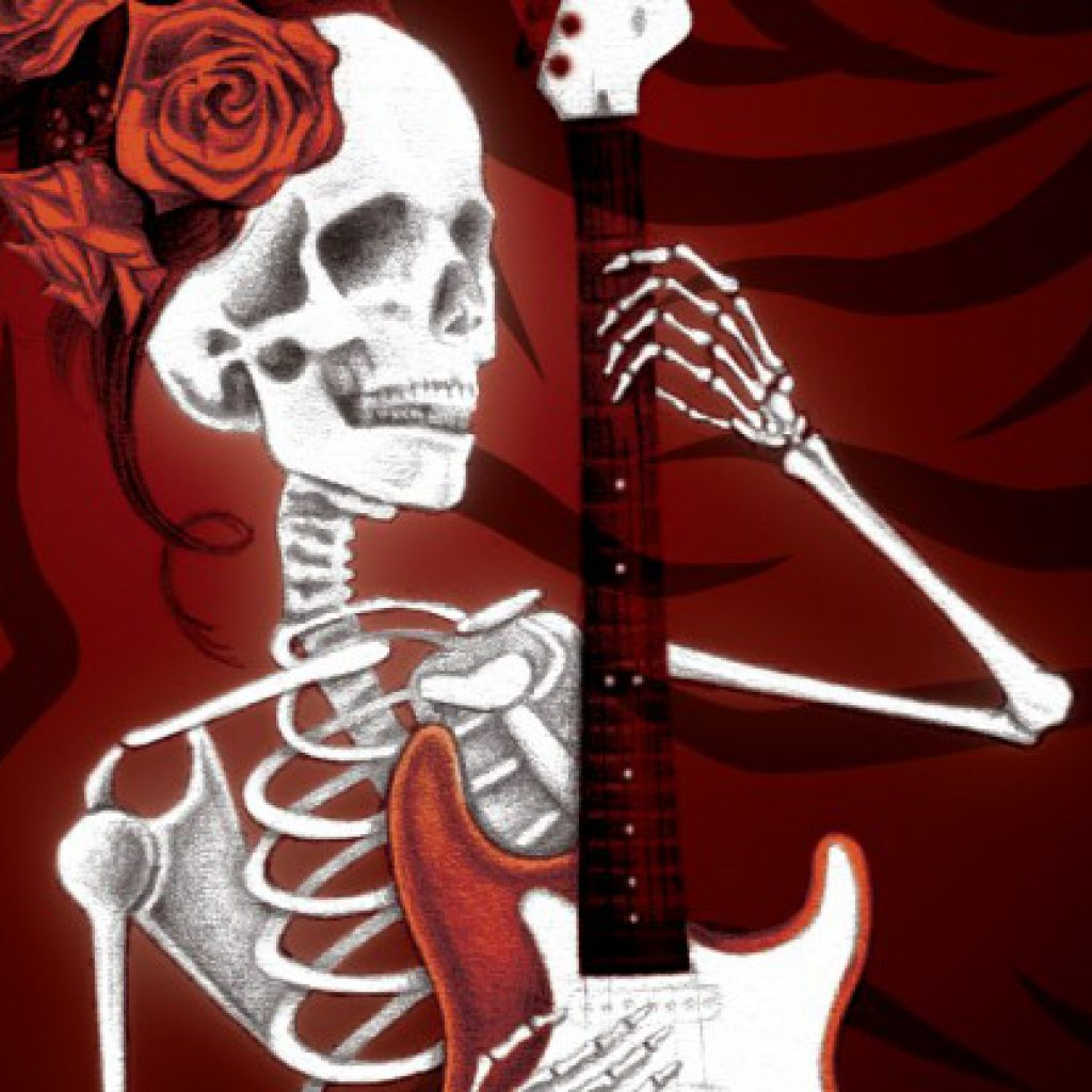 Death Plays an Electric Guitar