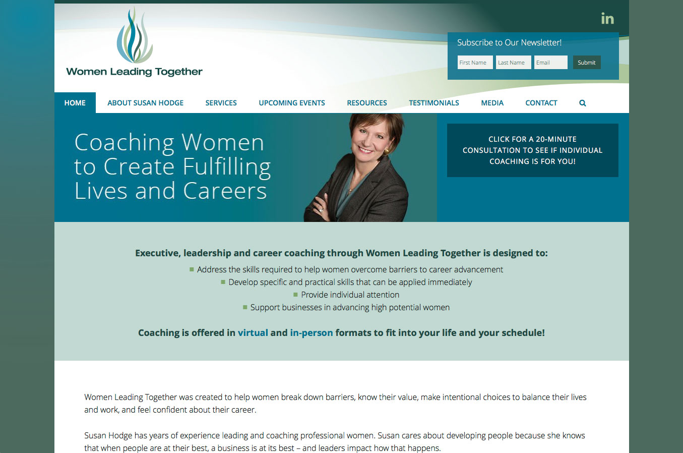 Women Leading Together - home