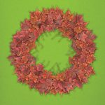 Maple Wreath holiday art